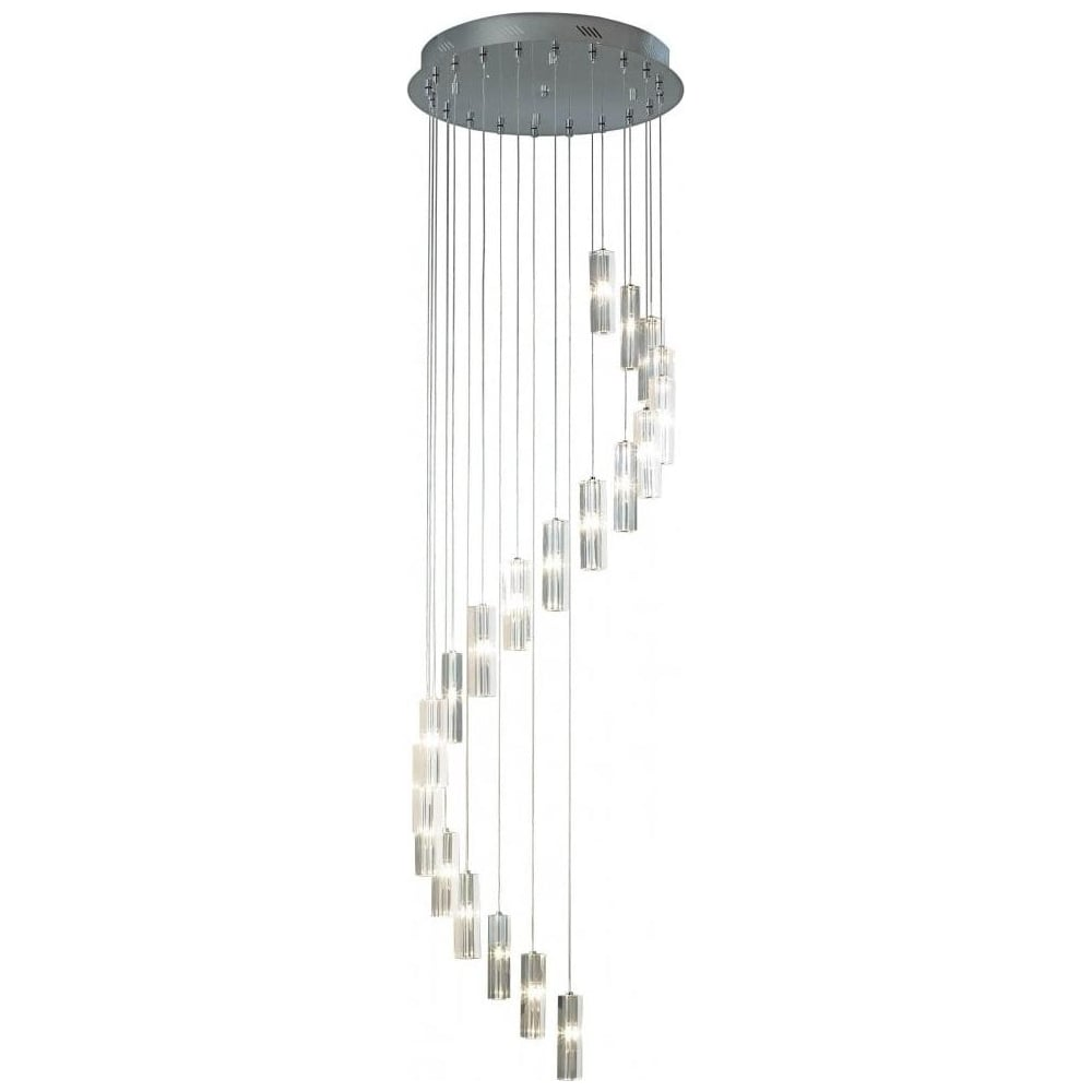 Dar lighting gal5750 galileo 20 light ceiling pendant gal5750 in gal5750 galileo 20 light ceiling pendant gal5750 in chrome with crystal shades aloadofball Images