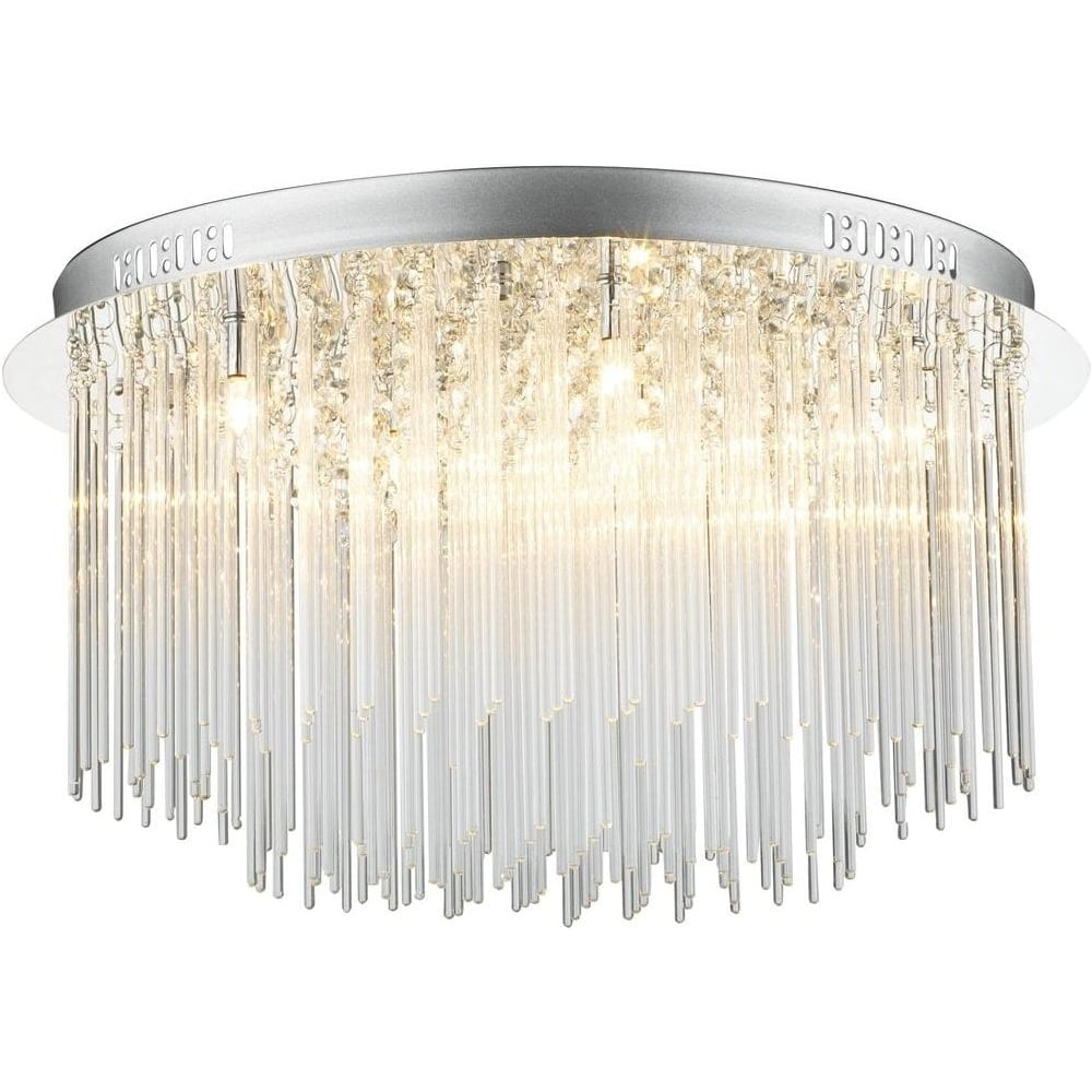 Dar lighting ici4850 icicle 8 light flush polished chrome ceiling ici4850 icicle 8 light flush polished chrome ceiling light aloadofball Gallery