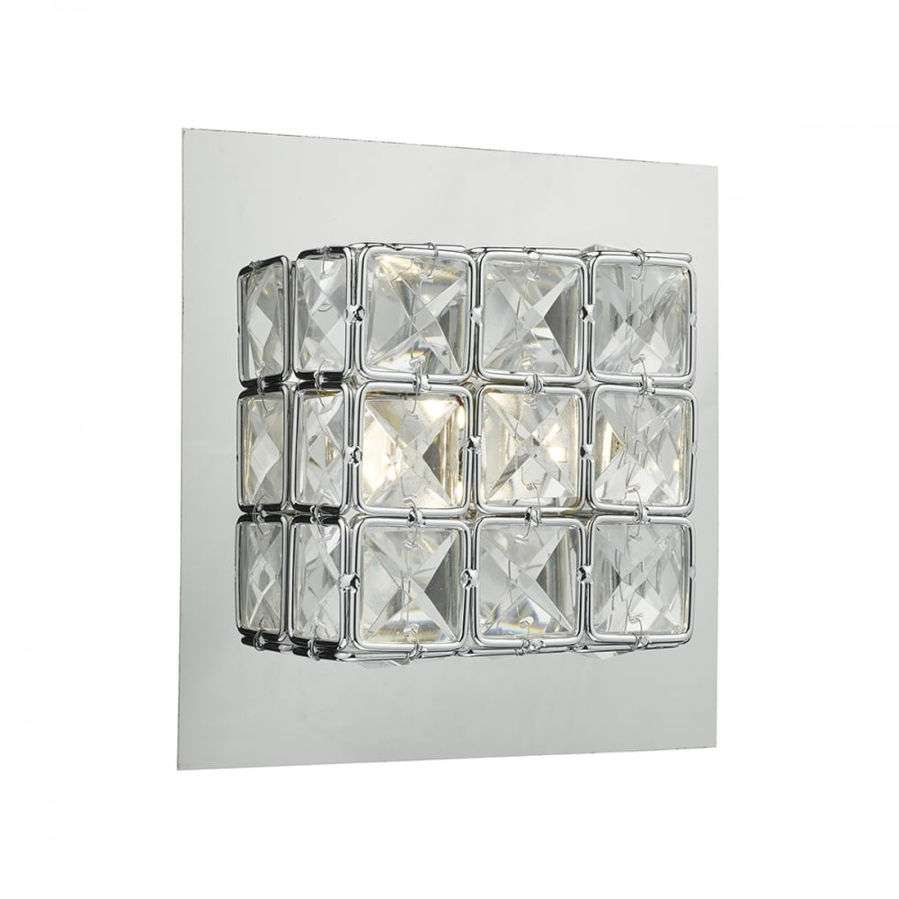 Dar lighting imogen led crystal glass wall light in polished chrome imogen led crystal glass wall light in polished chrome finish imo0750 audiocablefo
