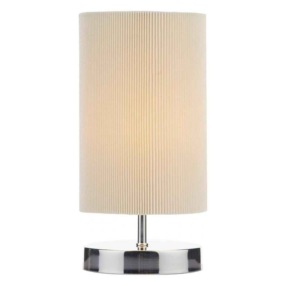 Dar lighting leo polished chrome and cream touch table lamp leo4133 leo polished chrome and cream touch table lamp leo4133 aloadofball Images