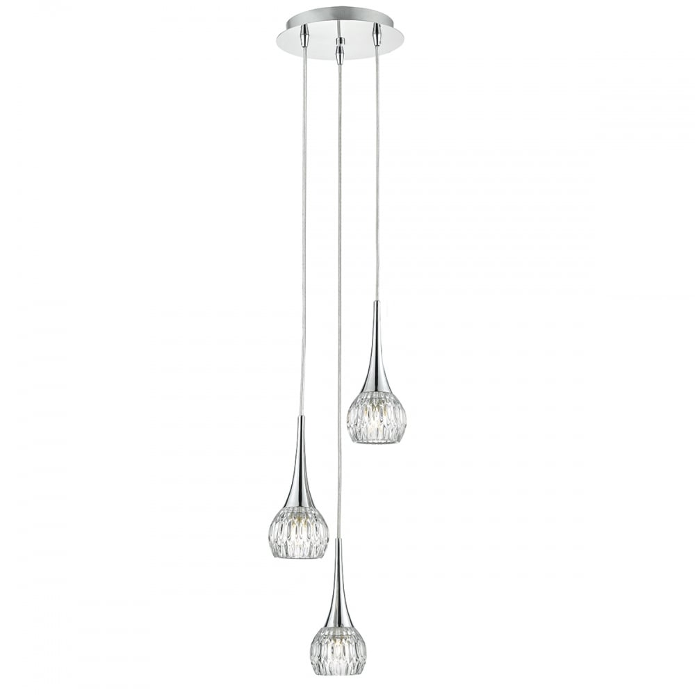 Dar lighting lyall 3 light spiral ceiling pendant light in polished lyall 3 light spiral ceiling pendant light in polished chrome finish lya0350 aloadofball Choice Image