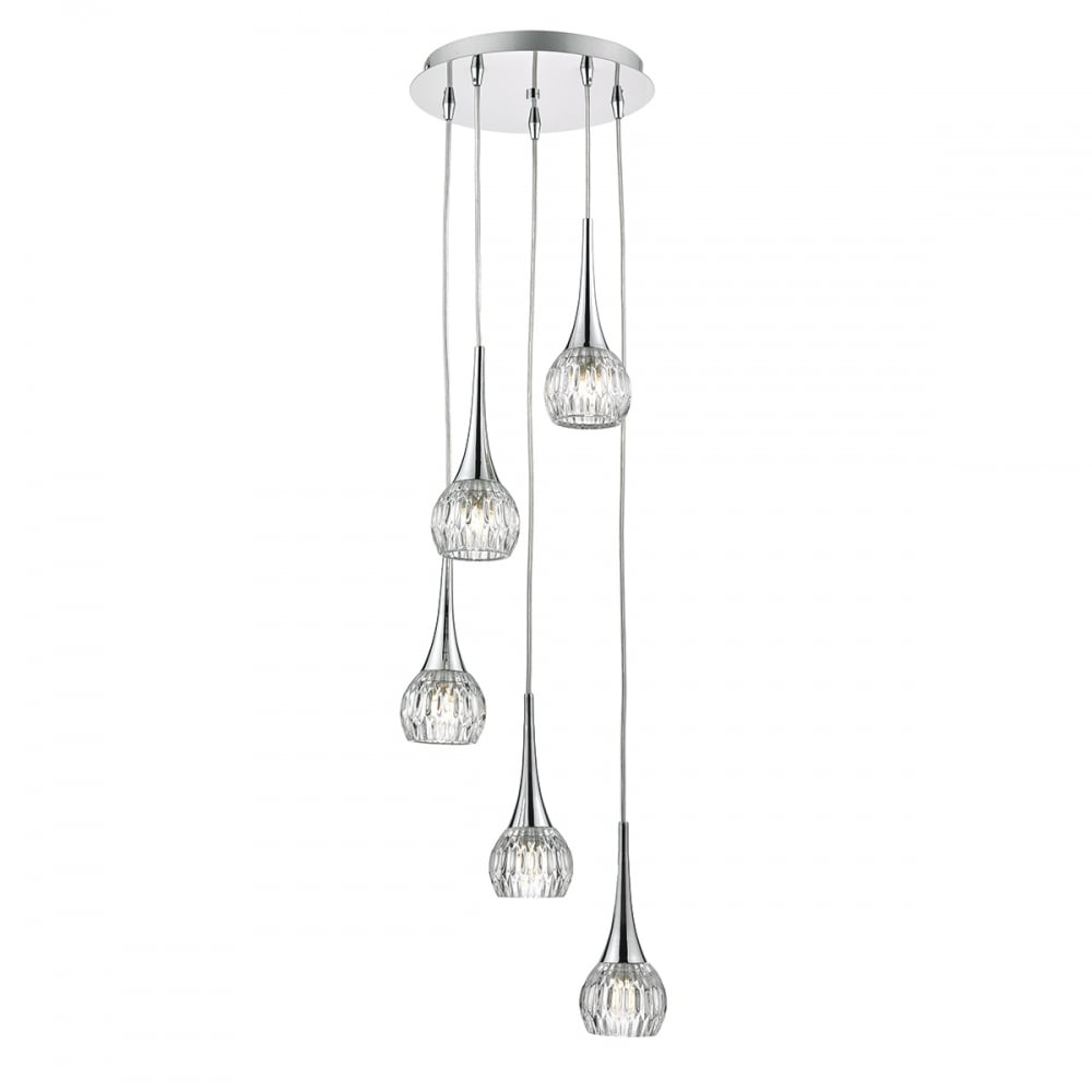 Dar lighting lyall 5 light spiral ceiling pendant light in polished lyall 5 light spiral ceiling pendant light in polished chrome finish lya0550 aloadofball Choice Image