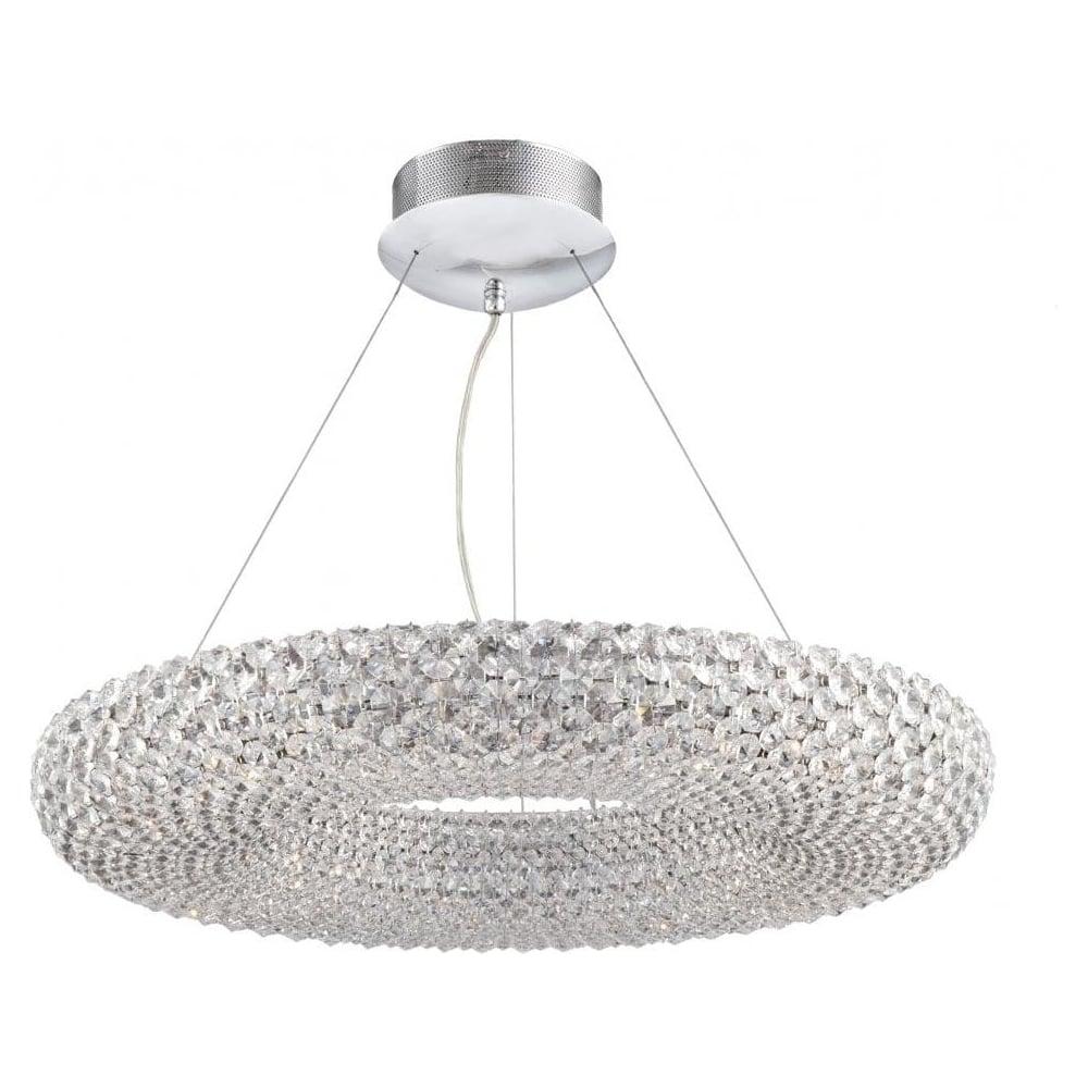 Dar Lighting Messina 24 Light Chrome And Crystal Ceiling Pendant Light  MES2550