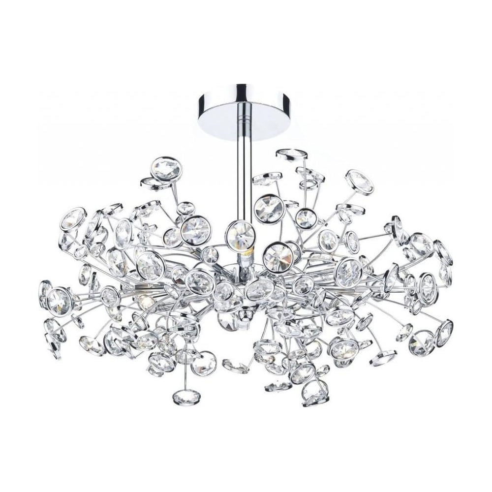Dar lighting modern oberoi 6 light chrome semi flush ceiling light modern oberoi 6 light chrome semi flush ceiling light obe0650 aloadofball Choice Image