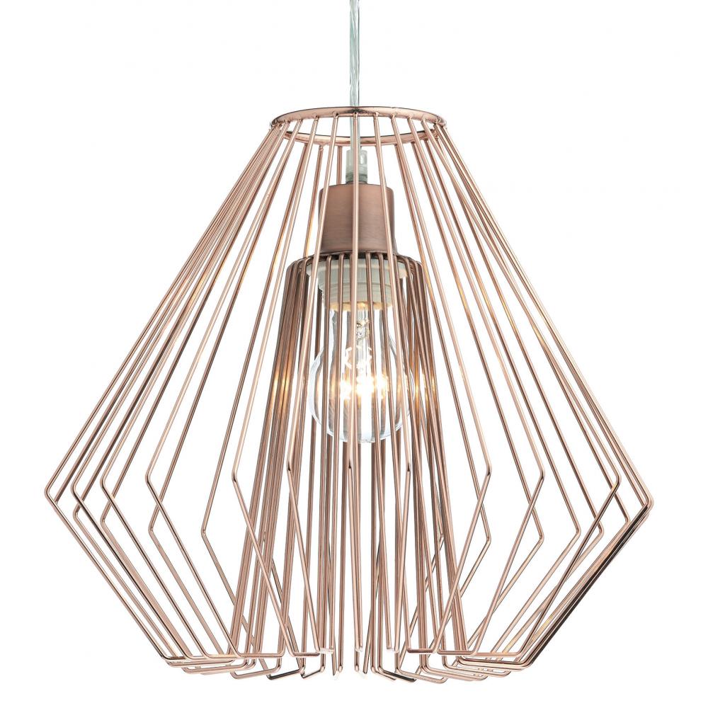 easy lighting. Needle Copper Easy Fit Pendant Light Shade NEE6564 Lighting M