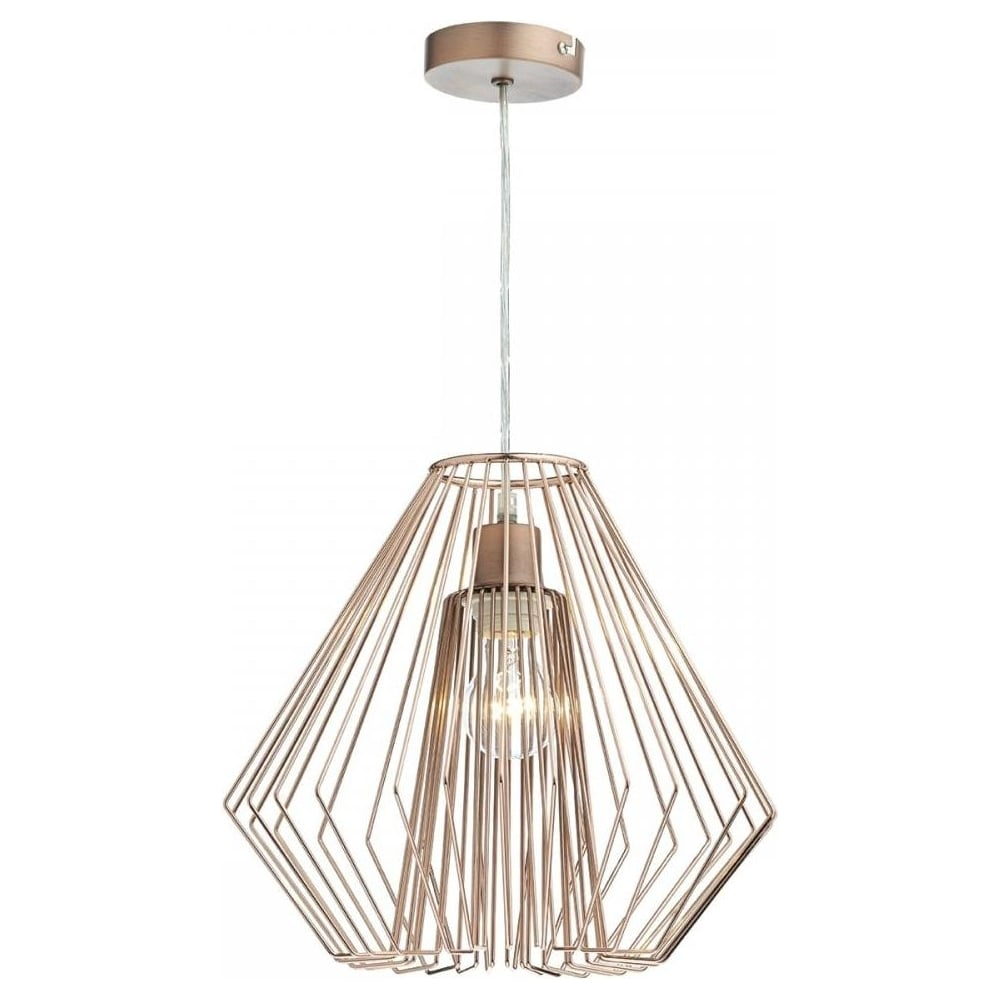 Dar lighting needle copper easy fit pendant light shade nee6564 needle copper easy fit pendant light shade nee6564 aloadofball Image collections