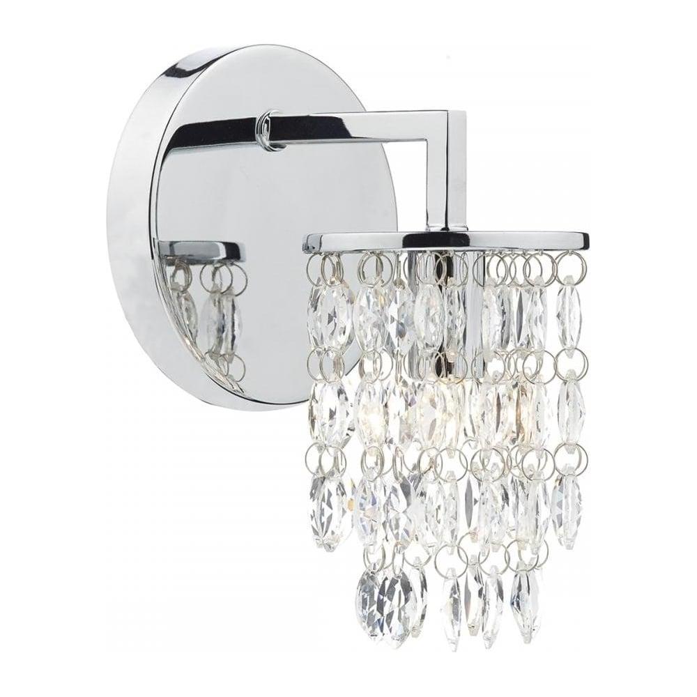 Dar Lighting Niagara Modern Single Crystal Wall Light NIA0750 ...