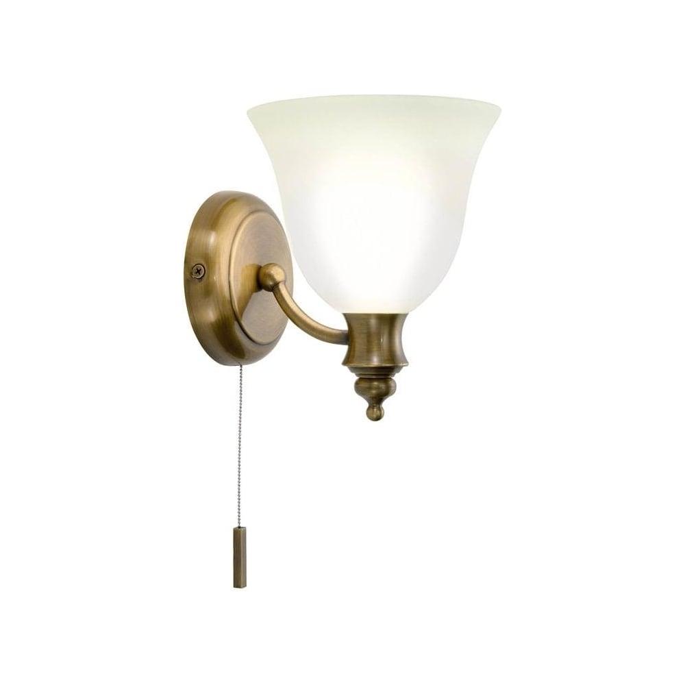 Dar Lighting OBO0775 Oboe Traditional Brass Bathroom Light IP44 ...