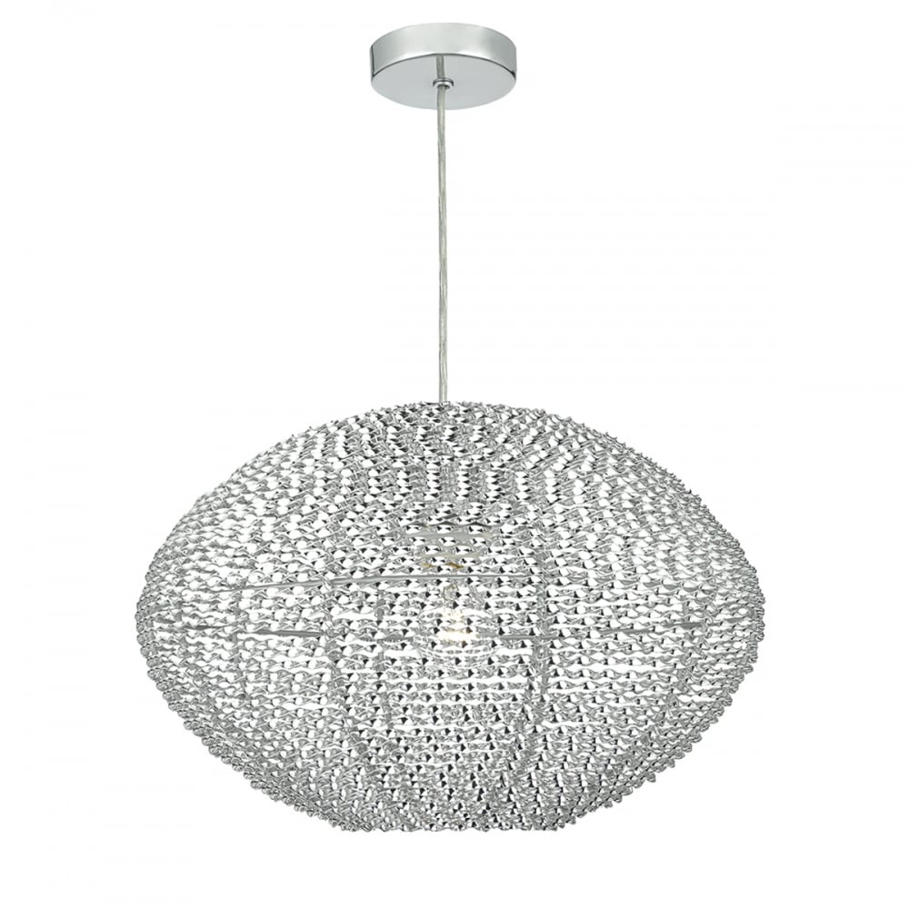 Dar Lighting Oisin Decorative Aluminium Easy Fit Pendant Lampshade ...