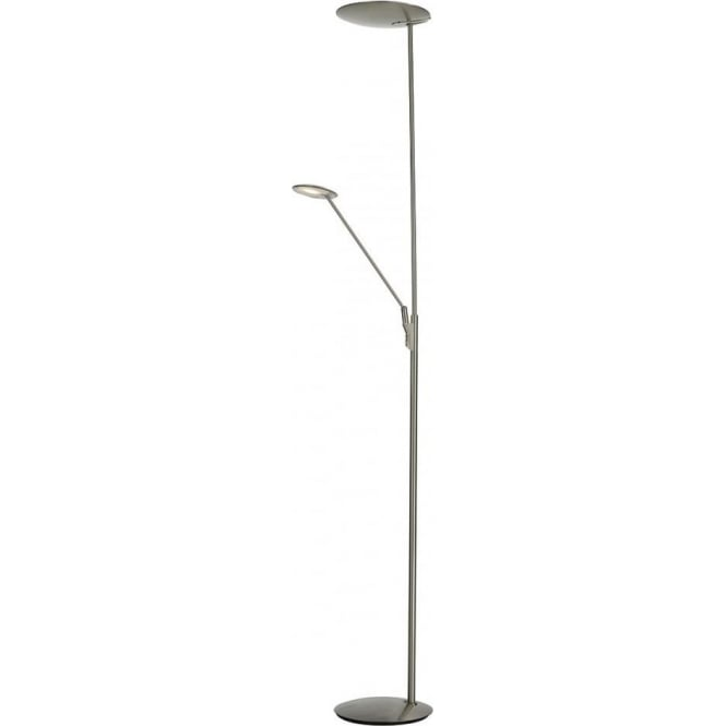 Dar Lighting Oundle LED Mother And Child Lamp Satin Nickel OUN4946