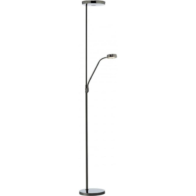 Dar Lighting Pioneer Black Chrome LED Mother and Child Floor Lamp PIO4967
