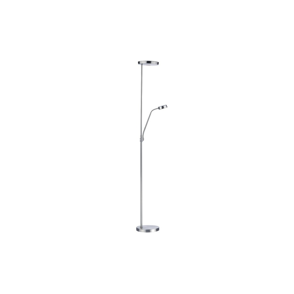 Pioneer LED Mother And Child Floor Lamp Satin Chrome PIO4946