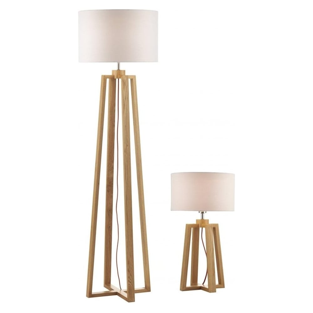 Pyramid Table And Floor Lamp With Shades PYR4943