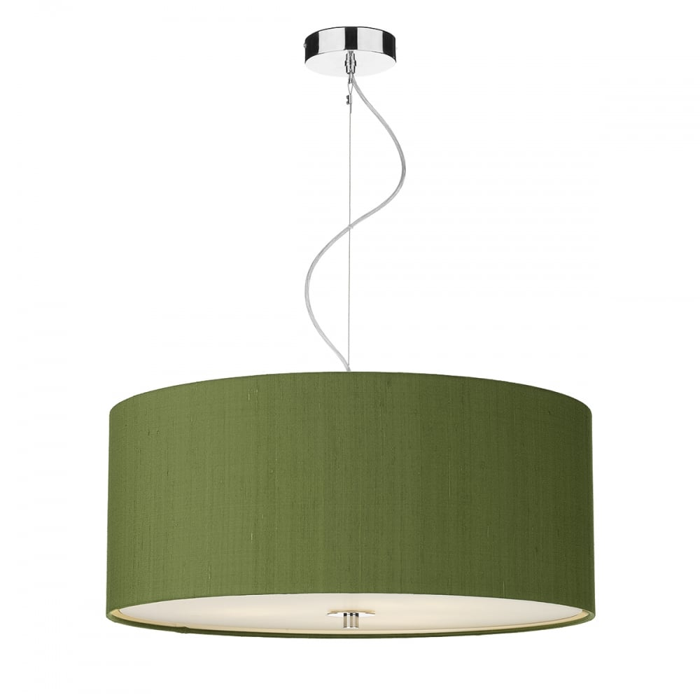 Light shade studio renoir 60 cm ceiling pendant light with olive renoir 60 cm ceiling pendant light with olive green silk shade ren1776 mozeypictures Image collections