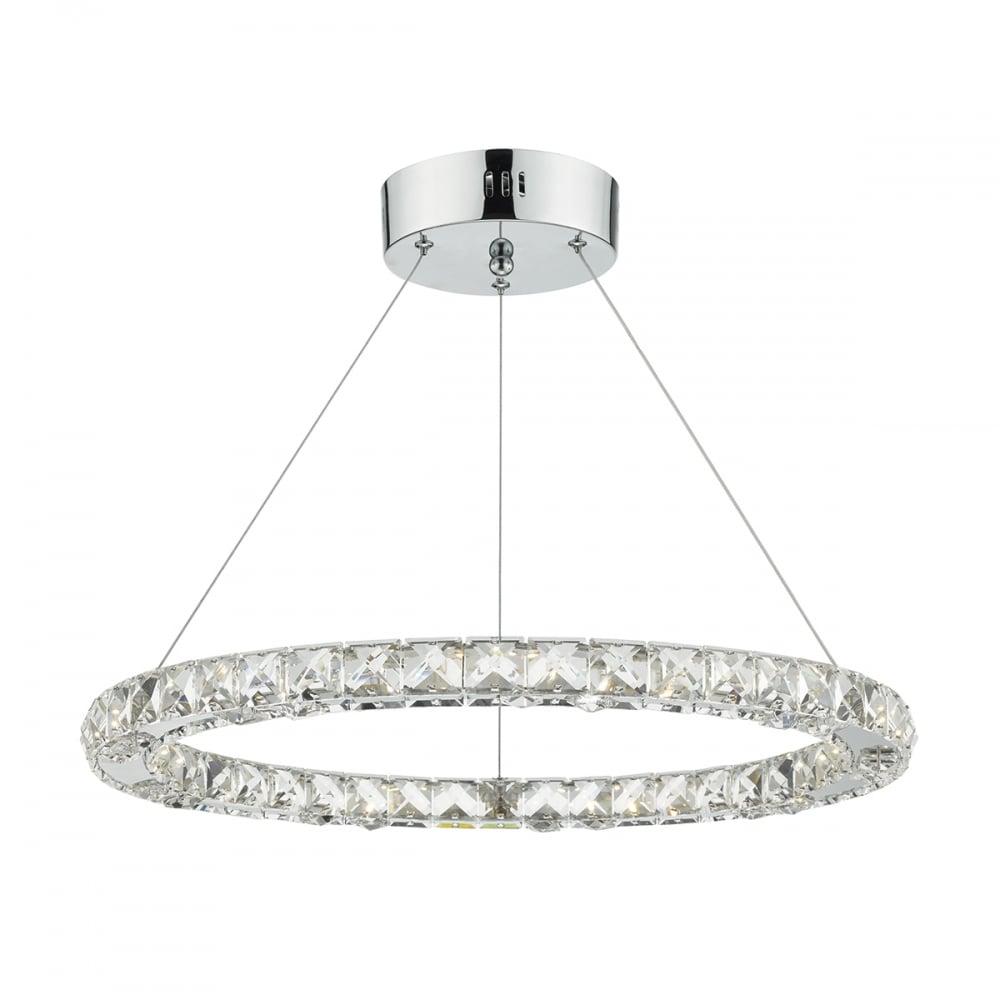 Dar lighting roma led ceiling pendant light with faceted crystal roma led ceiling pendant light with faceted crystal squares rom1750 aloadofball Gallery
