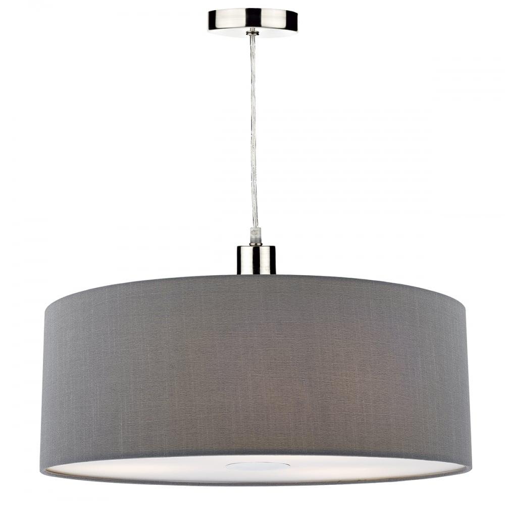 Dar lighting ronda 60 cm easy fit ceiling pendant lampshade in ronda 60 cm easy fit ceiling pendant lampshade in grey ron8639 aloadofball Choice Image