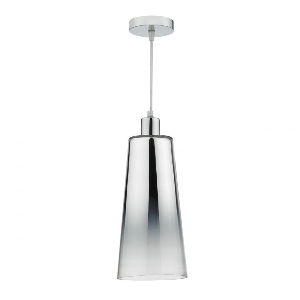 Dar Lighting Smokey Easy Fit Chromed Glass Pendant Light SMO6550 ...