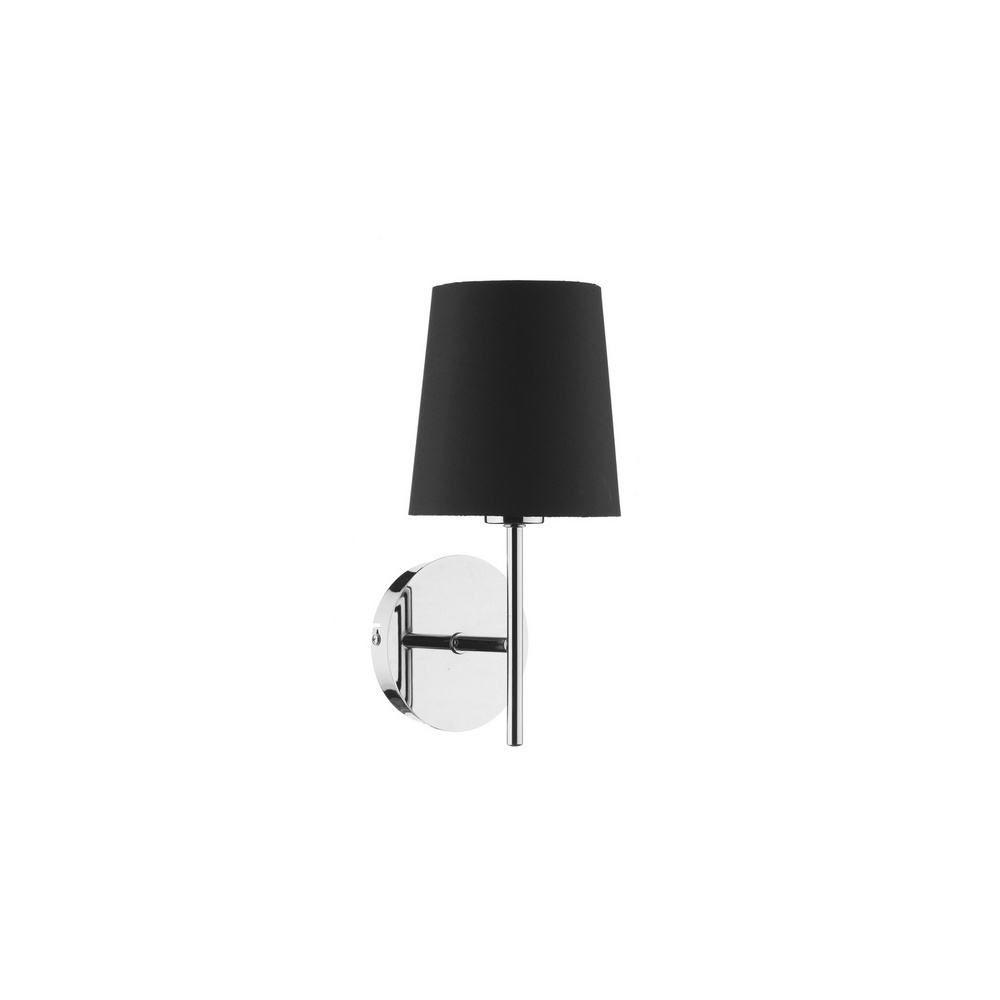 Dar Lighting TUS0750/S1072 Tuscan Chrome Wall Lamp With Black Shade - Dar Lighting from The Home ...