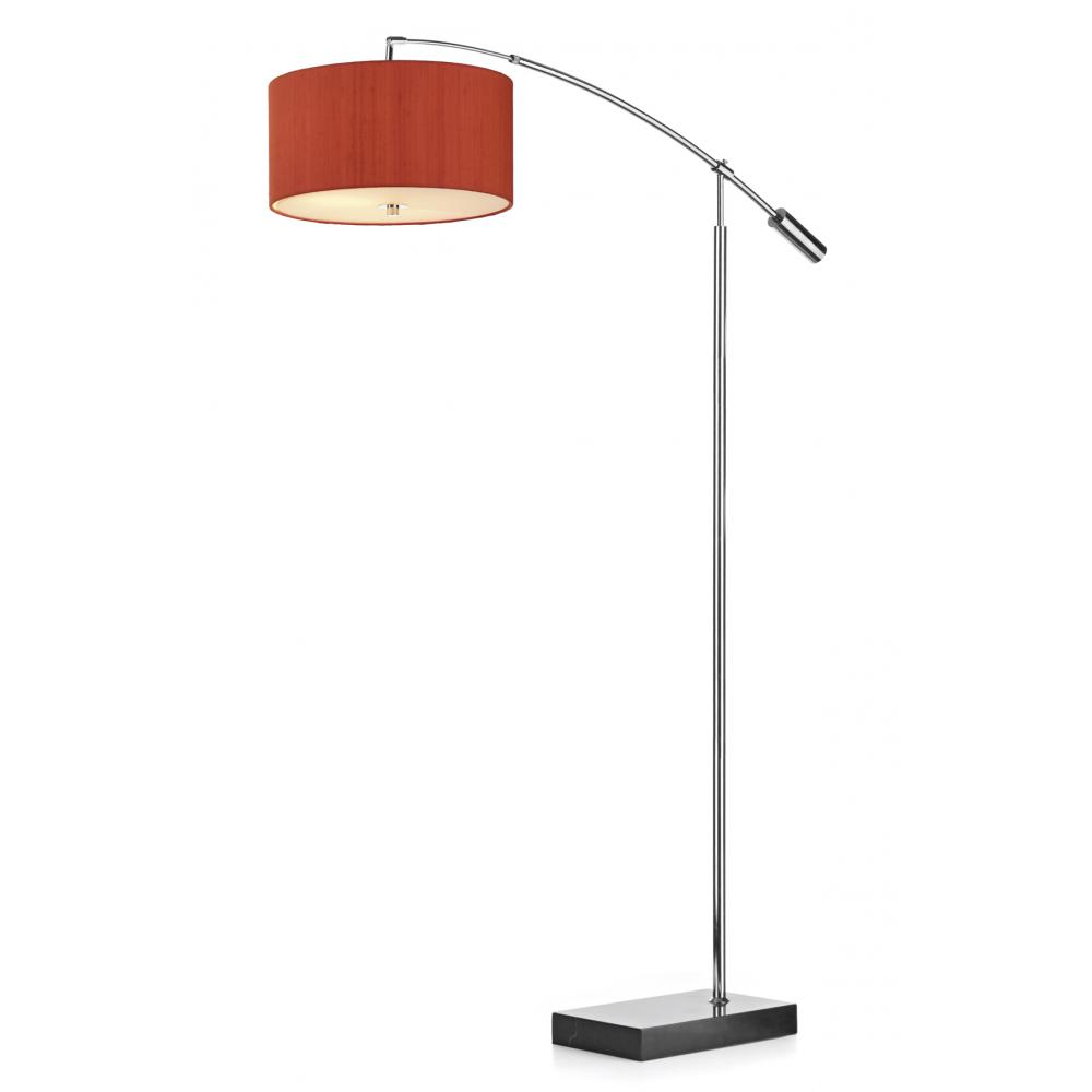 Floor lamp shadesfresh cool lowes mission floor lamp 96 for Orange metal floor lamp