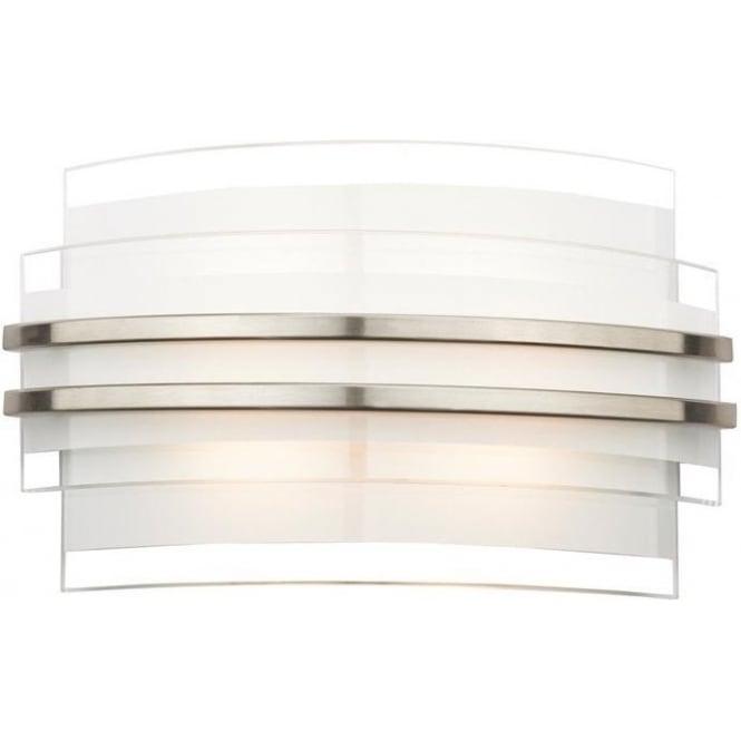 Dar Lighting Sector Led Small Contemporary Wall Light Opal Glass Sec072 Uk
