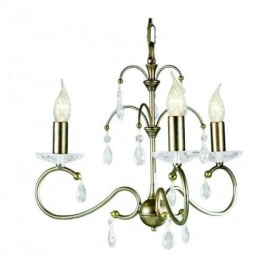 Darcy DY3 Chandelier Silver Gold patina 3 Light