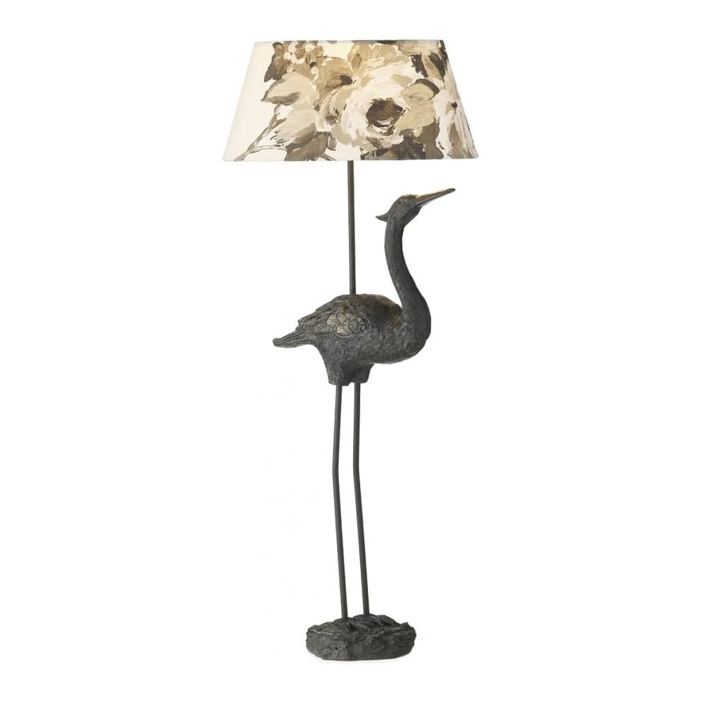 Bird Table Lamp With Romana Natural Shade BIR4322 + LEX1589