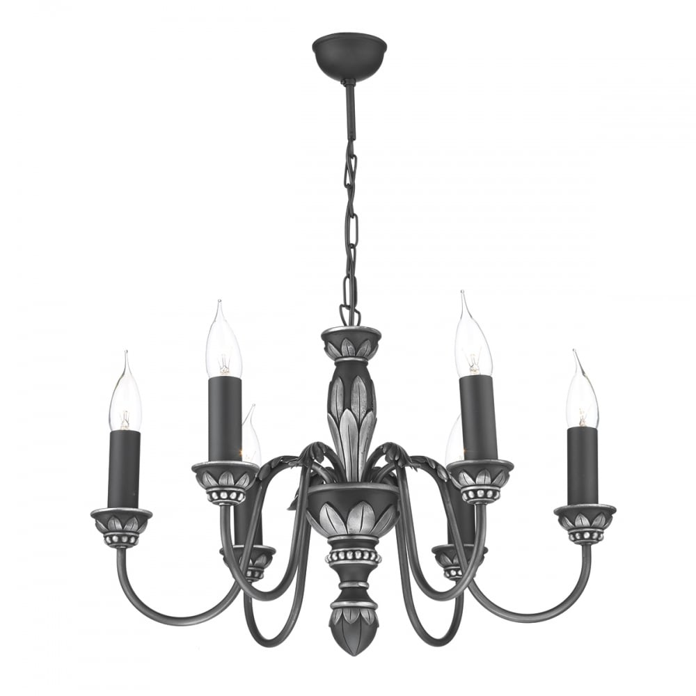 David hunt lighting oxford classic 6 light chandelier in antique oxford classic 6 light chandelier in antique pewter finish ox6 aloadofball Images
