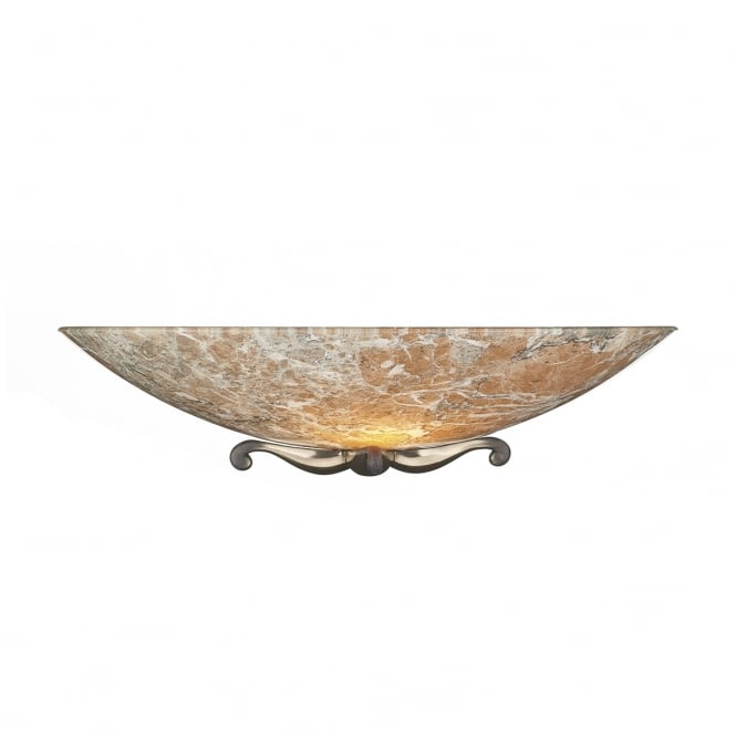 David Hunt Lighting Savoy Classic Wall Light In Bronze Finish With Light Marble Glass MG24
