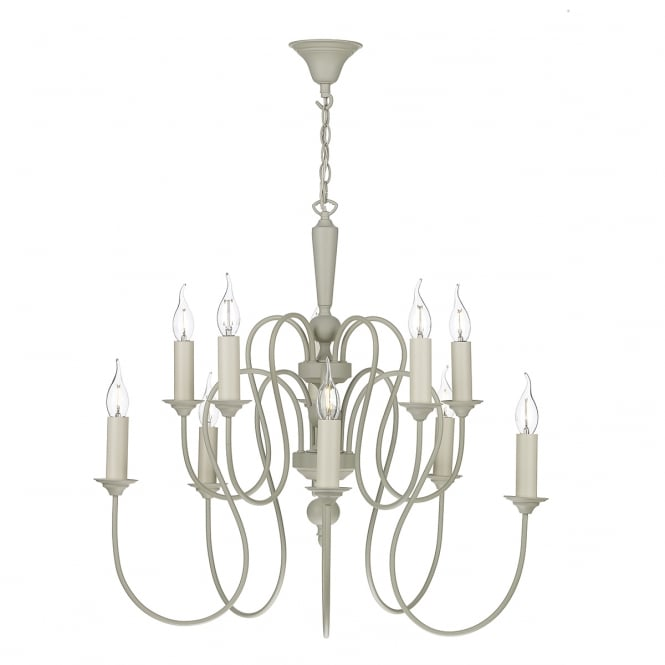 David Hunt Lighting Therese 10 Light Ceiling Pendant In French Cream Finish THE232