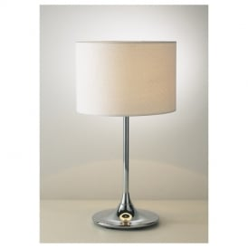 DEL4250 Delta Polished Chrome Table lamp with Shade