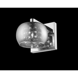 Deni Single Wall Light With Smoked Glass Shade CFH606091/01/WB/CH