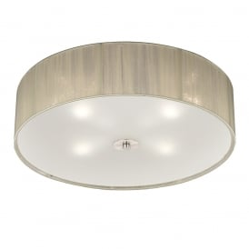 Desire Modern Flush Ceiling Light With Cream Shade And Glass Diffuser FL2341/4