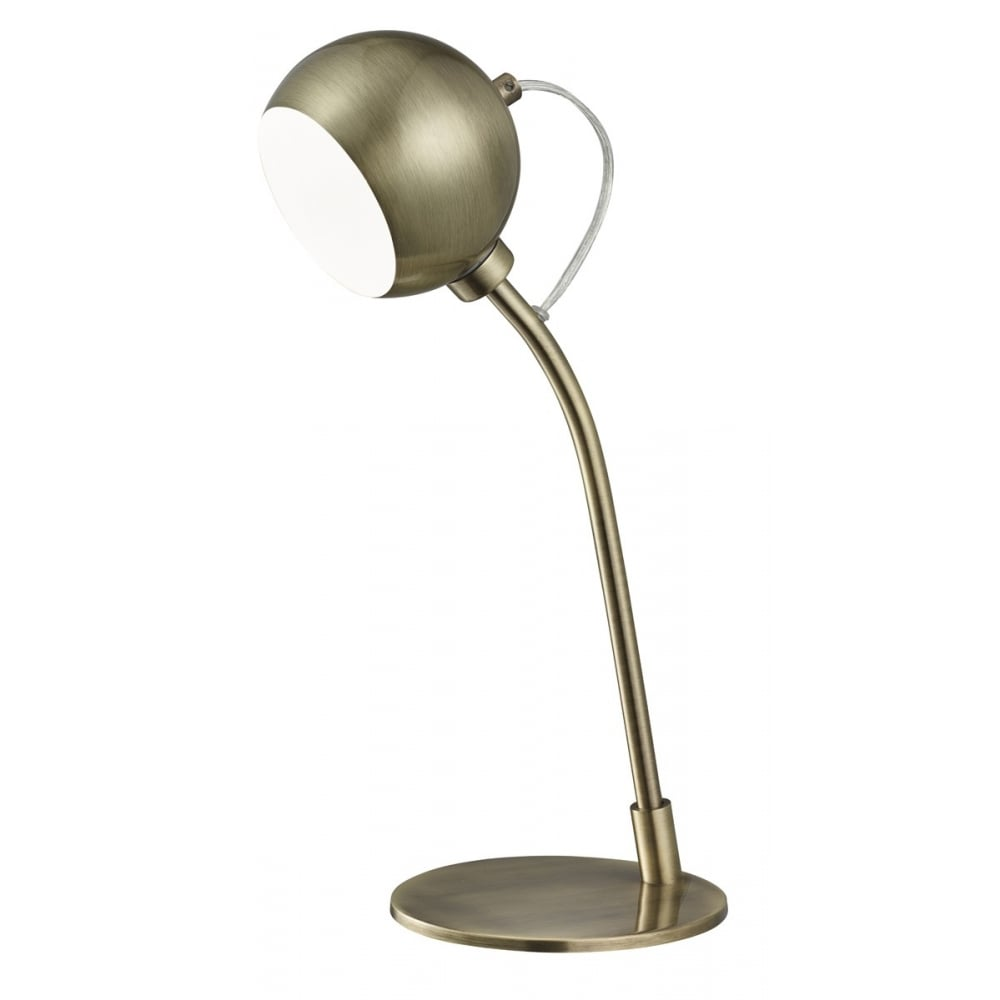 Surprising Desk Lamp With Fully Adjustable Head In Antique Brass Finish 4391Ab Download Free Architecture Designs Viewormadebymaigaardcom