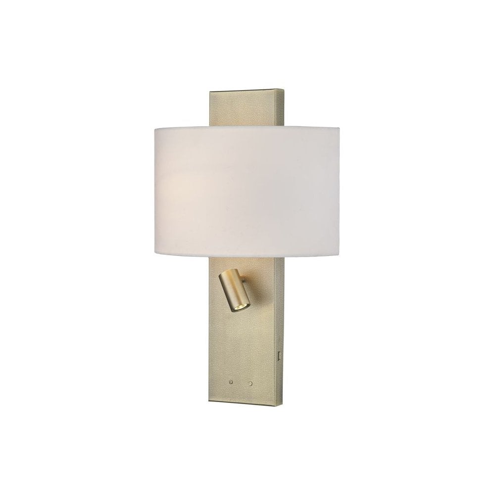 new products 90f26 c6e21 Dijon Elegant Bedside Wall Light In Textured Brass Finish With USB Port  DIJ0945