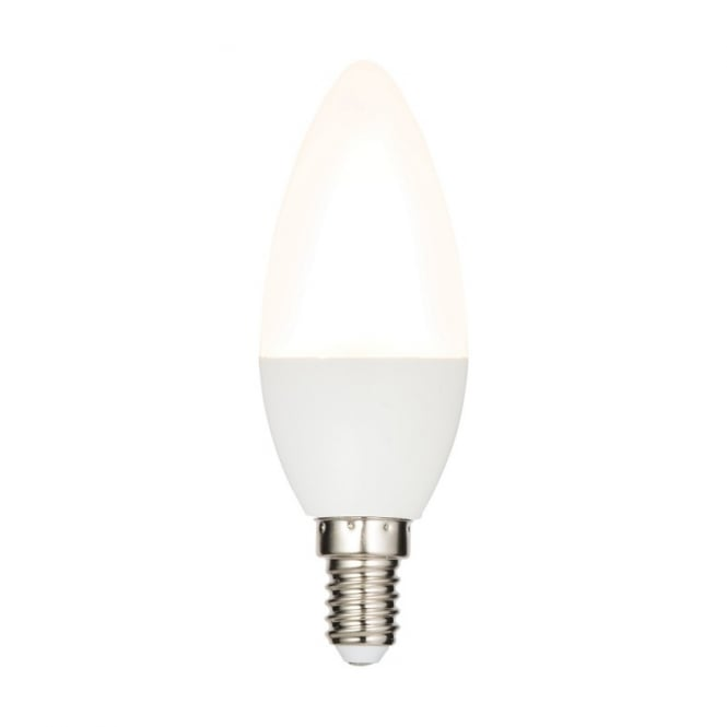 Saxby Lighting Dimmable Opal LED Small Edison Screw Candle Lamp 6.2 Watt 61542