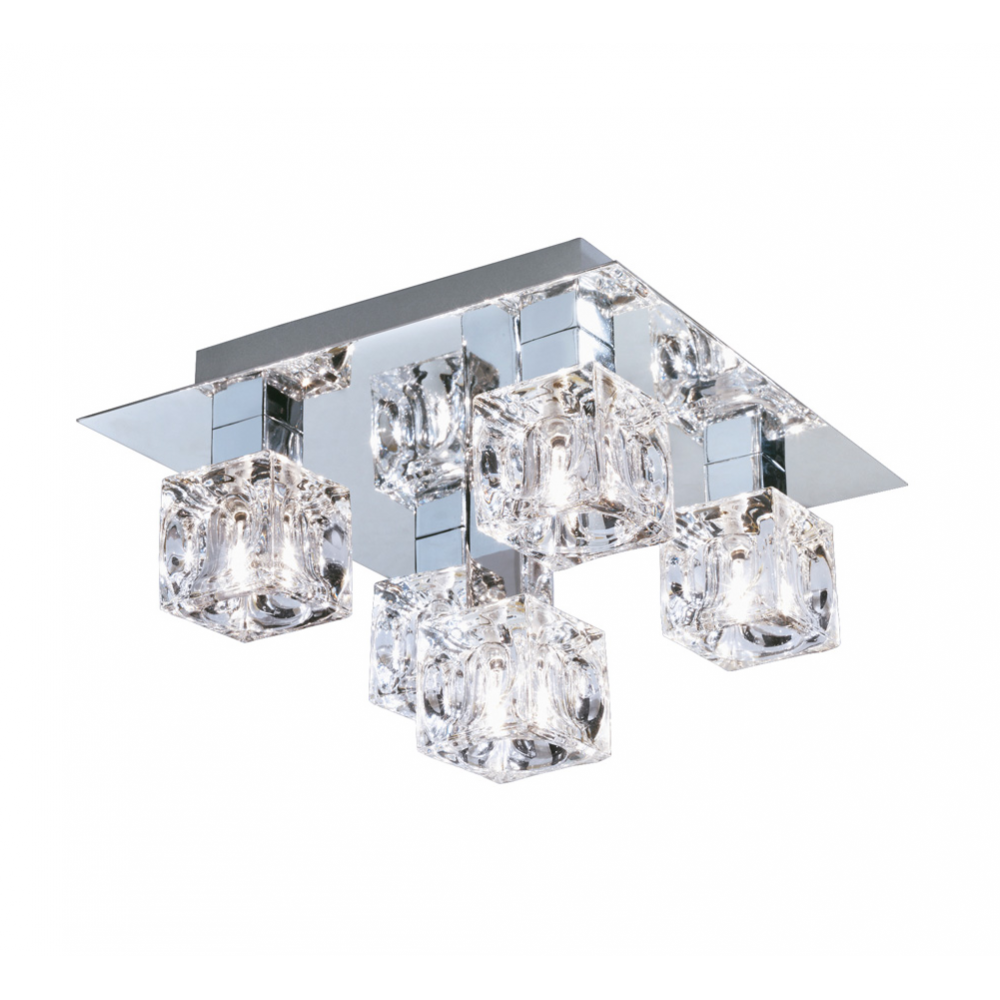 Searchlight cool ice 5 light ice cube ceiling light 5 light chrome ice cube ceiling light 4476 5 aloadofball Choice Image