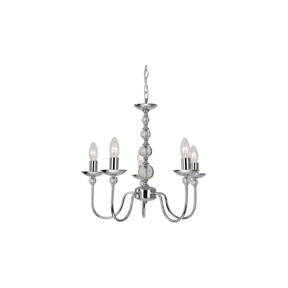 6127ch galaxy chrome 5 light chandelier lighting from the home 6127ch galaxy chrome 5 light chandelier aloadofball Choice Image