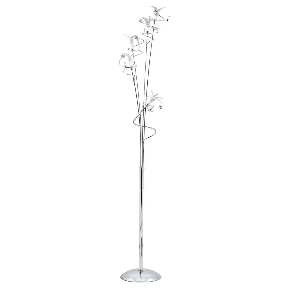 7529cc lucila chrome glass and crystal floor lamp