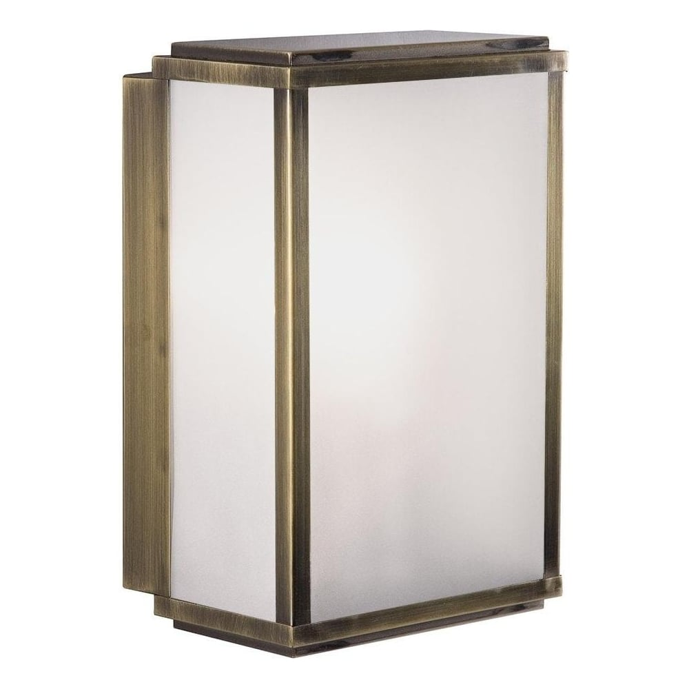 Antique brass frosted glass box outdoor light 8203ab lighting antique brass frosted glass box outdoor light 8203ab aloadofball Images