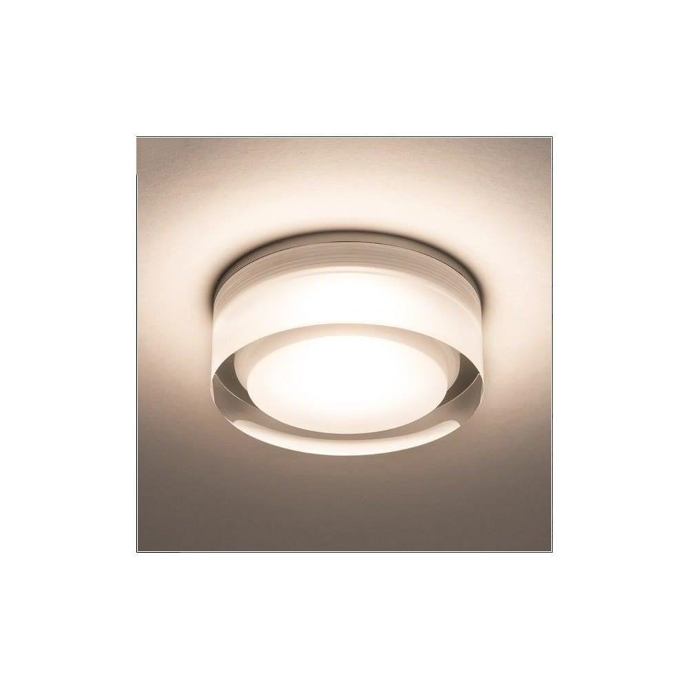 Astro Vancouver 90 Round Glass Flush Bathroom Ceiling Light 5697