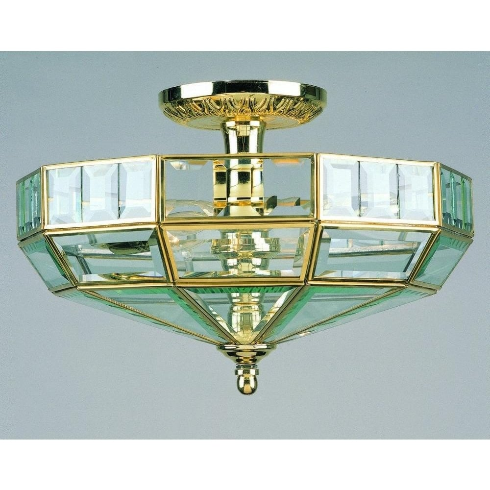 bruno 2 light gold glass semi flush ceiling fitting sf00323 13