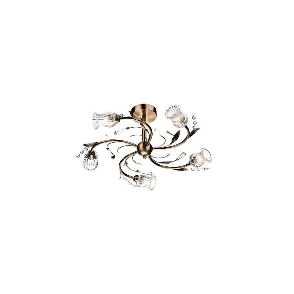Evi0575 evie 5 light antique brass semi flush ceiling light evi0575 evie 5 light antique brass semi flush ceiling light mozeypictures Gallery