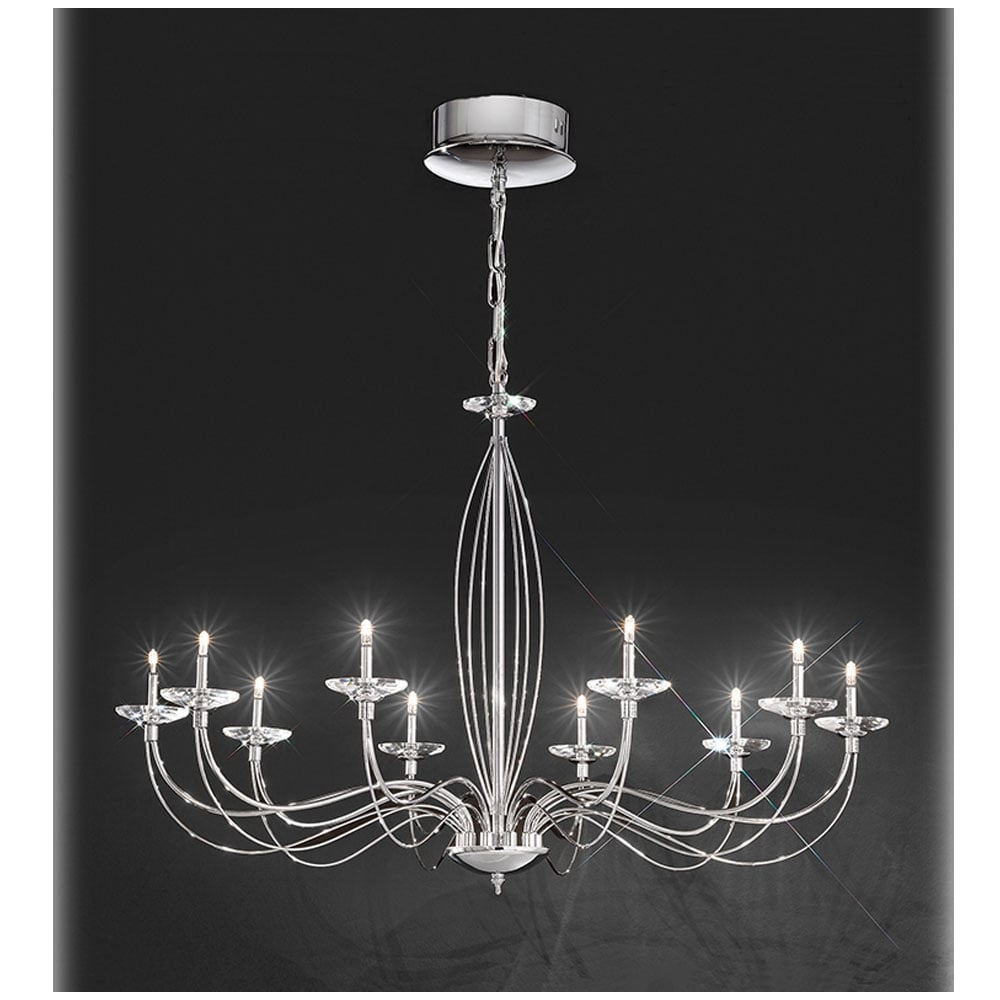 Fl2279 10 Aphrodite Light Crystal Chandelier