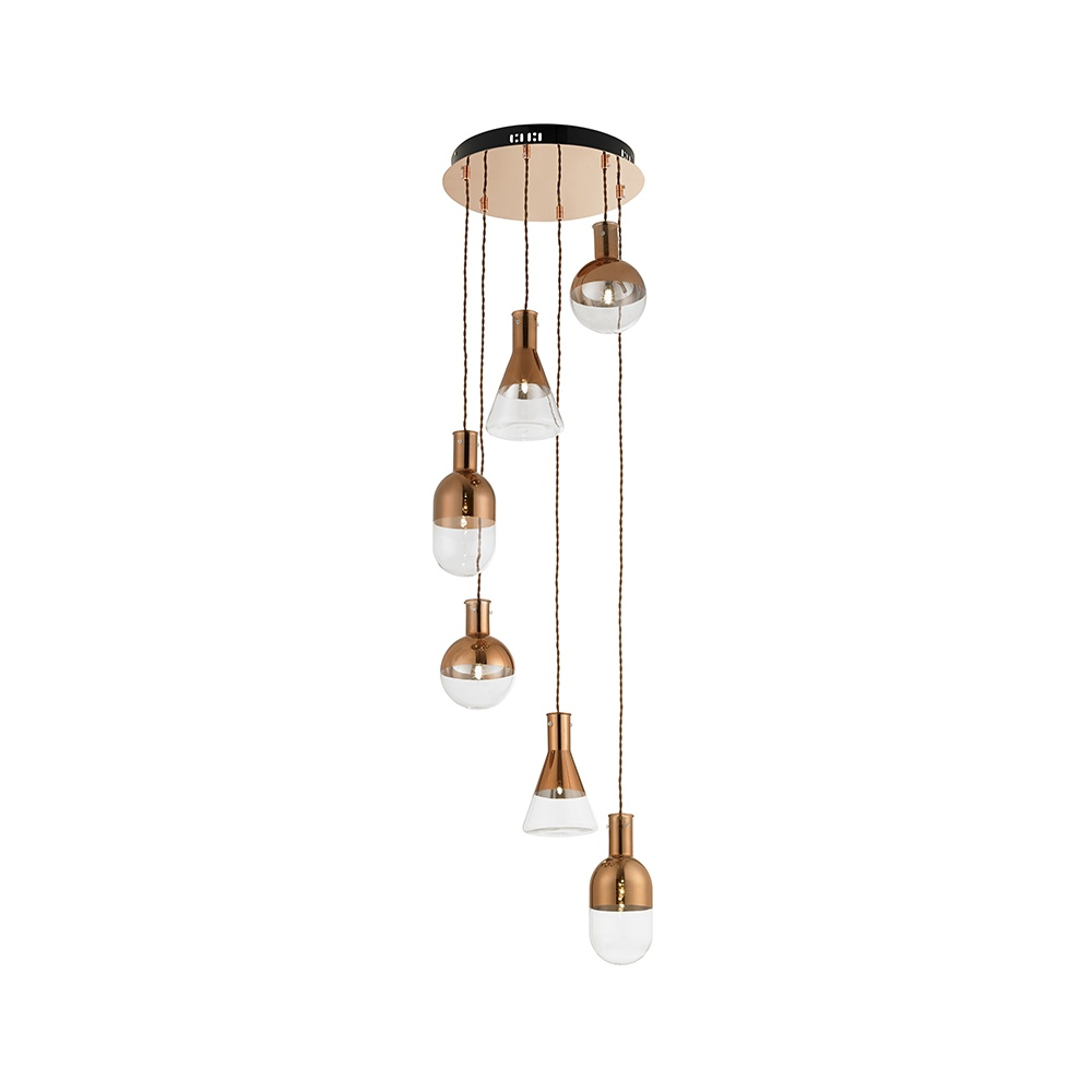 Giamatti 6co 6 light retro copper spiral ceiling pendant light giamatti 6co 6 light retro copper spiral ceiling pendant light aloadofball Choice Image
