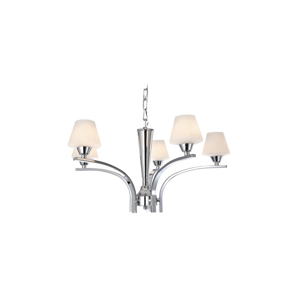 Gina 5 light chrome halogen chandelier with shades 8231 lighting gina 5 light chrome halogen chandelier with shades 8231 arubaitofo Image collections