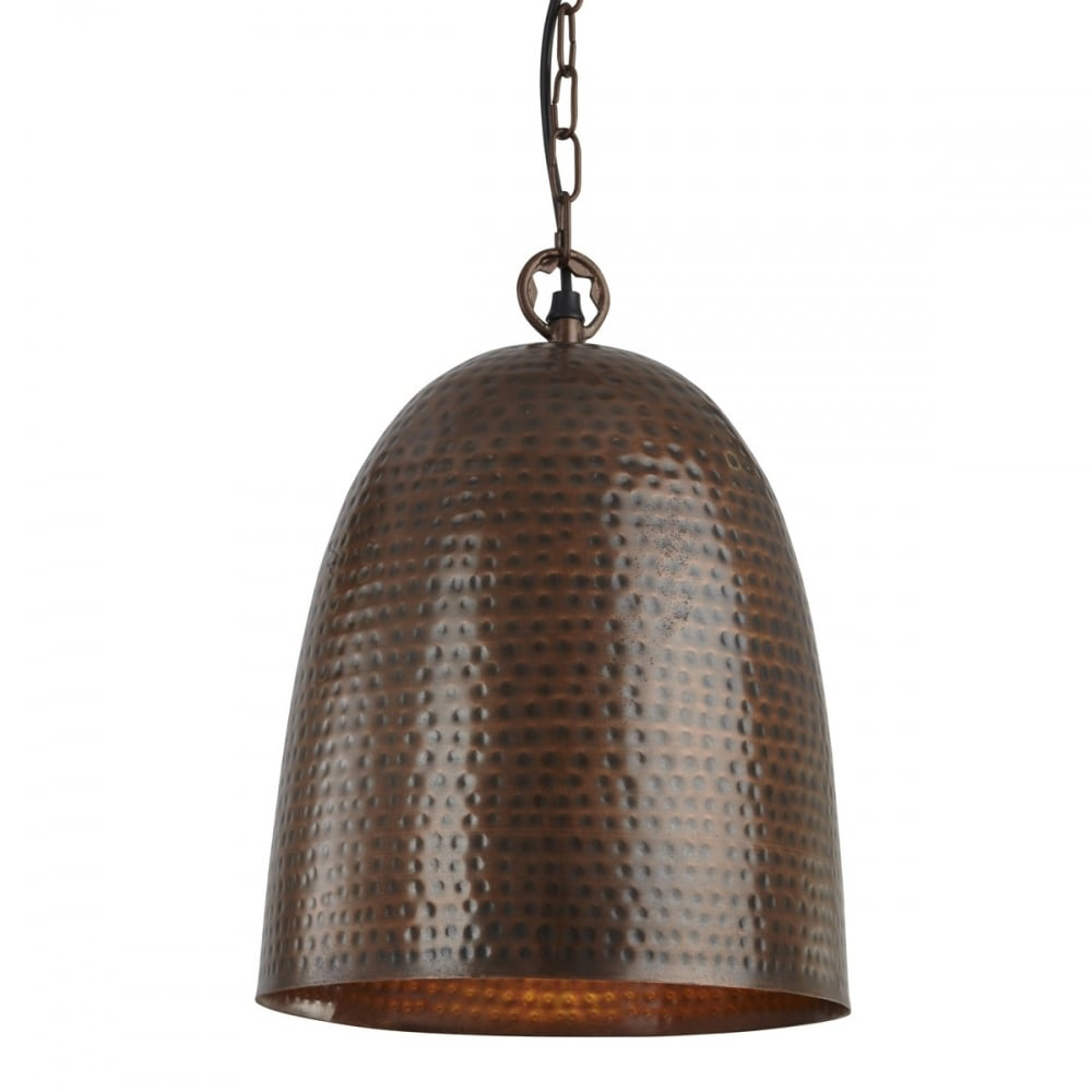 Hammered bell ceiling pendant light in antique bronze finish 2093 hammered bell ceiling pendant light in antique bronze finish 2093 35bz aloadofball Image collections
