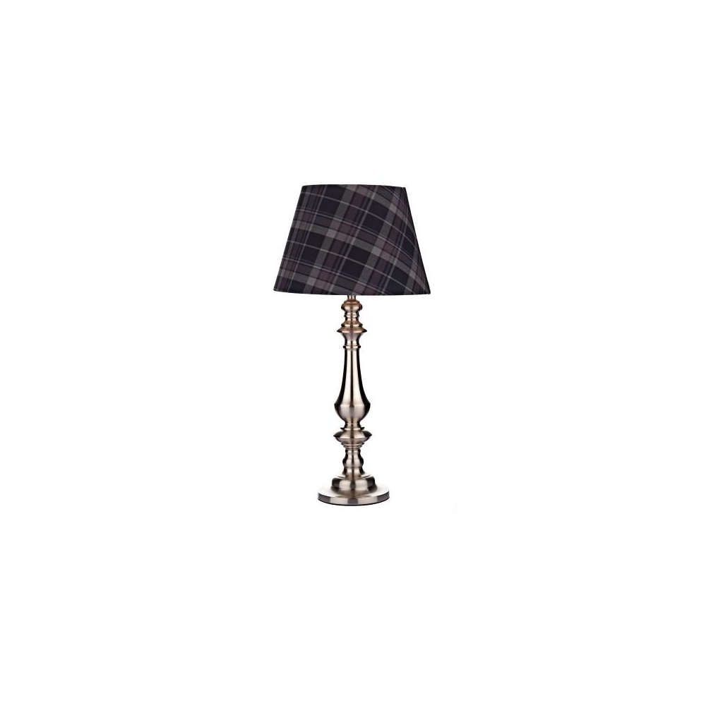 Hex4255 hexham satin chrome touch table lamp with shade lighting hex4255 hexham satin chrome touch table lamp with shade aloadofball Choice Image