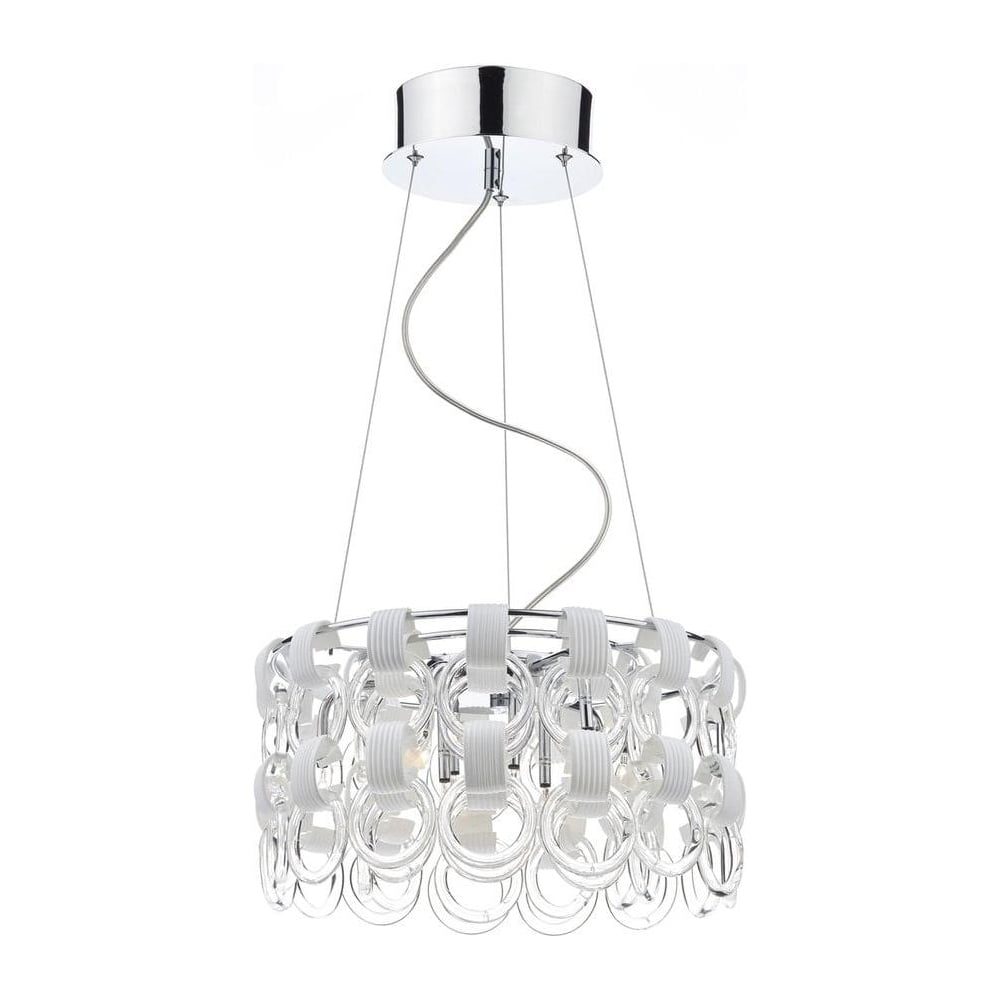 hoo1350 circle design 9 light contemporary ceiling light in chrome
