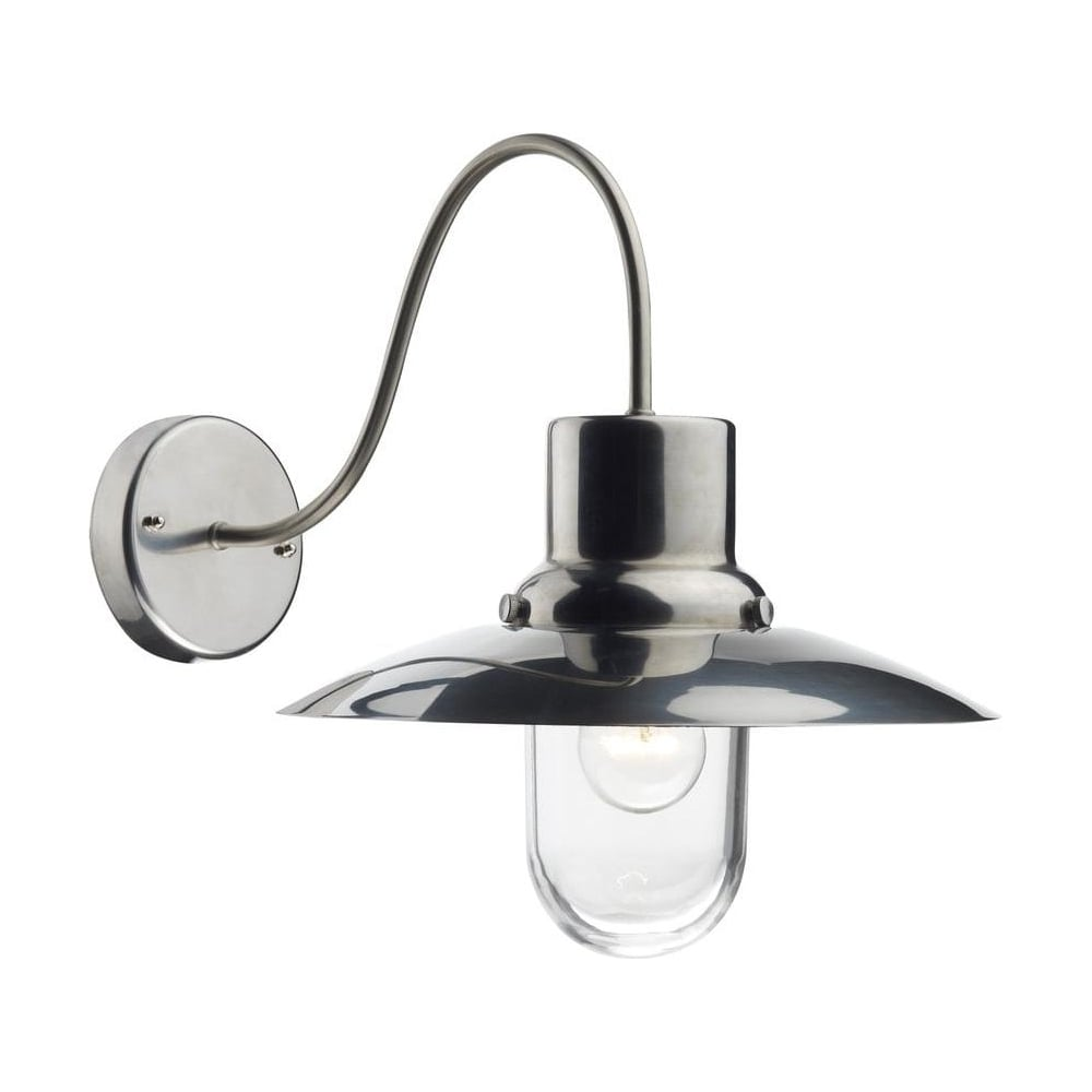 KYO1544 Kyoto Traditional 1 Light Outdoor Wall Lantern in Stainless ...