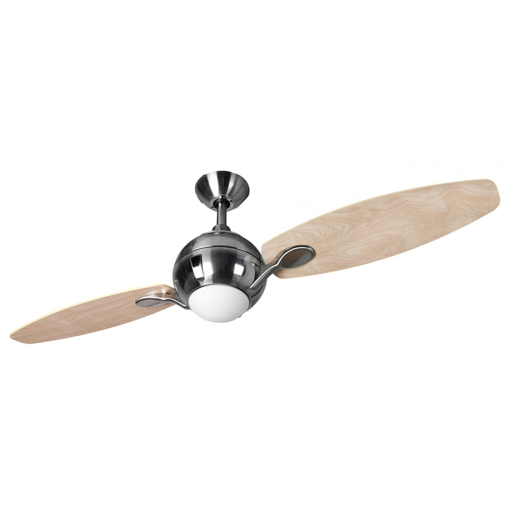 Propeller 44 remote control 2 blade ceiling fan in brushed nickel propeller 44quot remote control 2 blade ceiling fan in brushed nickel finish with light 114574 aloadofball Image collections